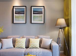 在灯光的渲染下,慵懒、舒服的感觉油然而生。,客厅,客厅,