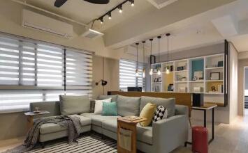 格林玫瑰湾91平两室现代混搭风格装修