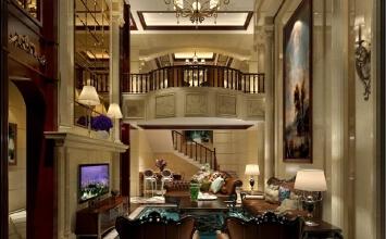 崇明岛自建别墅项目装修美式风格设计
