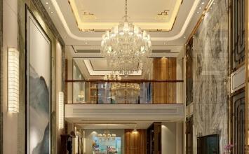 挑空别墅中式风格设计