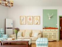 保利紫薇花语90平米 美式乡村风格装修案例