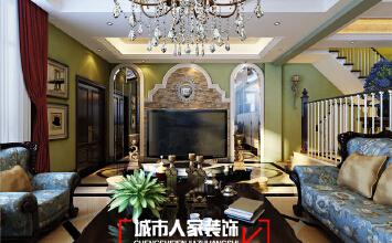 银川别墅装修设计中海央墅360平米