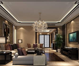 140平米中式风格案...
