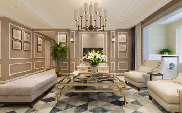 济南凤凰国际小区装修丨187平方四室两厅现代美式风格