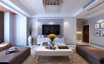 济南隆悦公馆小区装修效果图丨176平方四室两厅现代简约风格装