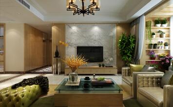 济南财富中心小区装修效果图丨175平方四室两厅北欧现代风格