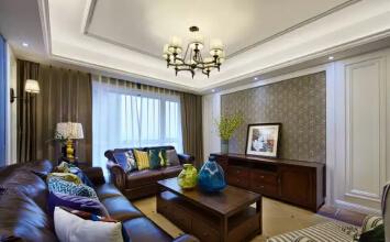 保利大都会140平蓝色调现代简美三室装修