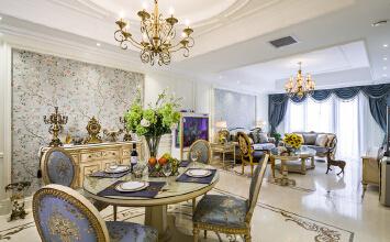 别墅装修案例:美林墅,新古典家居风格