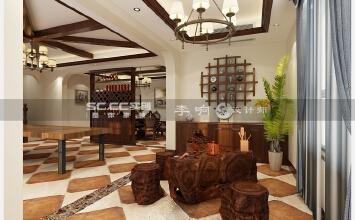 龙湖滟澜海岸5室3厅300平米美式风格