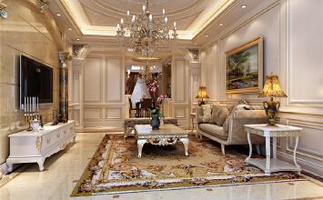 潮白河孔雀城 350平欧式风格设计方案