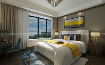 平层济南领秀城中央公园装修设计174平现代风格装修设计效果图