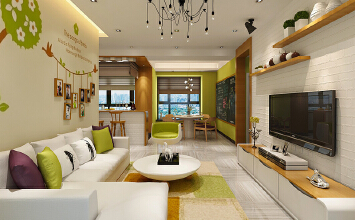 现代风格精致三室两厅室内装修效果图