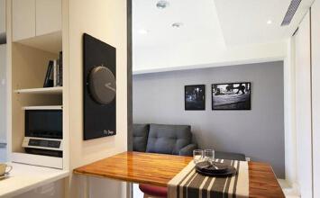 现代风格简约两室一厅室内装修效果