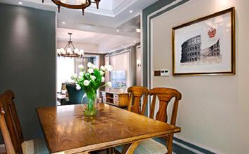 简约美式风格精美时尚大户型室内装修效果图