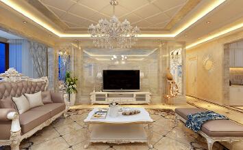 华润装饰哈尔滨群力宏润翠湖天地4室2厅2卫188平米欧式洋