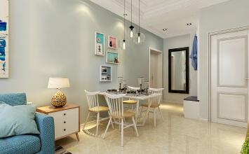 华润装饰哈尔滨地中海阳光小区2室1厅1卫41平米北欧装修设计