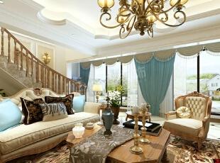 阳光100阿尔勒别墅装修|简美风格设计效果图