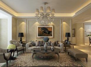 鲁商凤凰城欧式风格装修实景素色雅致稳重大气