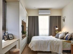 ,卧室,原木色,窗帘,收纳,