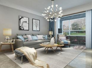恒大滨河左岸北欧风格装修效果图房子更有层次感空间感
