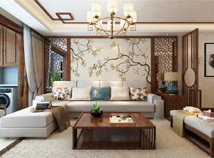 财富中心平新中式风格装修一抹写意几许禅意
