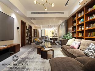 ,客厅,春色,白色,原木色,绿色,黑白,地台,窗帘,飘窗,墙面,收纳,灯具,