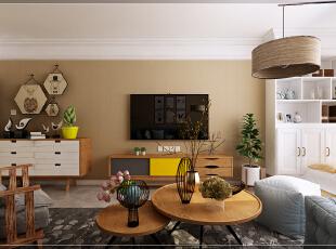 卓越时代广场37平简约风格装修效果图,小户型大精彩