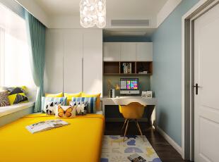 ,卧室,窗帘,相片墙,飘窗,灯具,