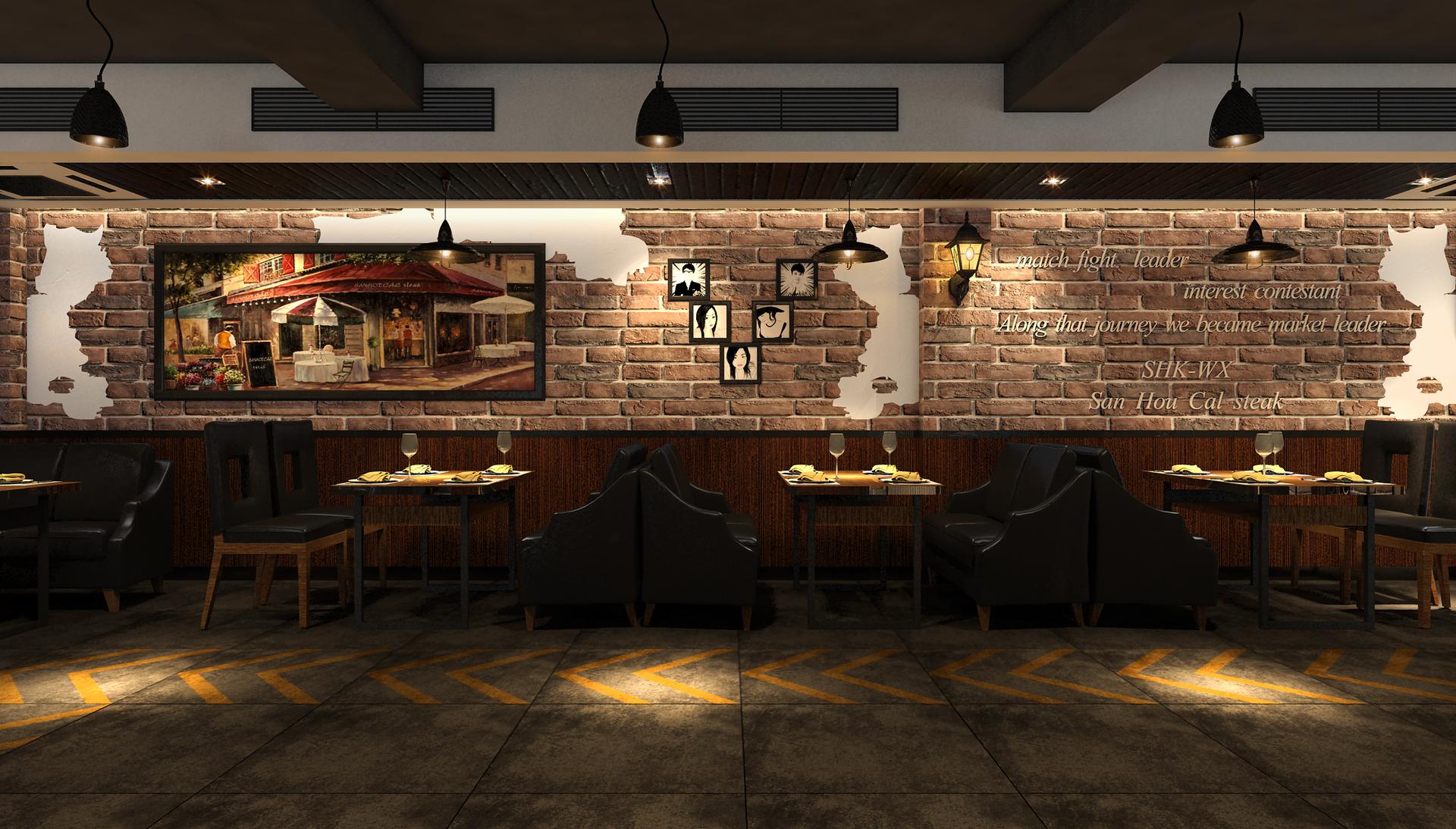 设计说明::户型为异形户型图,通过户型改造优化,把空间与餐饮布局