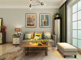 高新新城香溢紫郡两室两厅北欧风格装修效果图