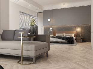 ,卧室,原木色,黑白,