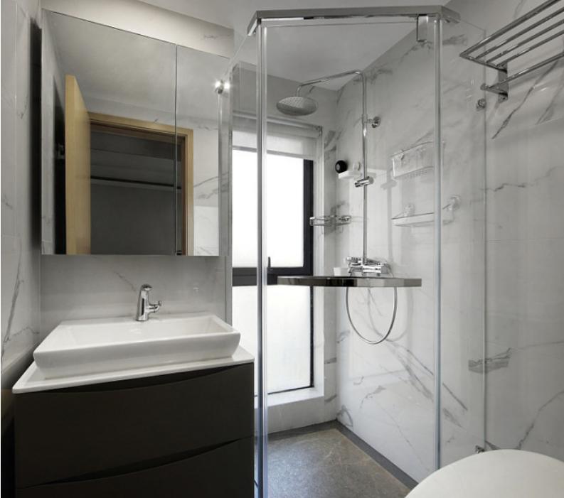 中车国际89平米现代简约风格装修效果图--卫生间