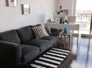 ,客厅,白色,原木色,黑白,