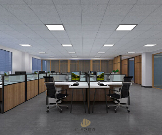 深圳沙井办公室装修设计案...