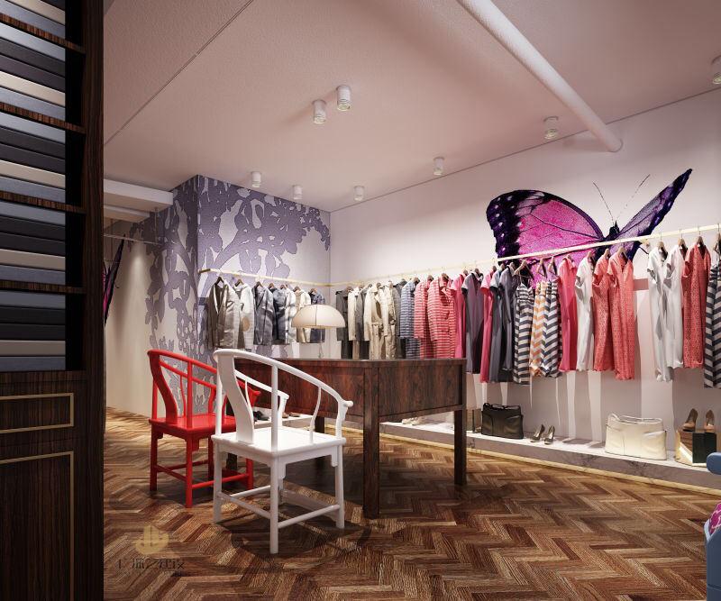 深圳服装商铺装修设计案例- 中式服装店>-广深艺建设 分享