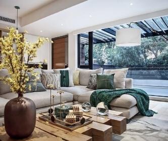现代风格别墅,暖暖的木色...