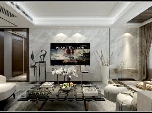 财富壹号三室两厅装修效果图,轻奢风格