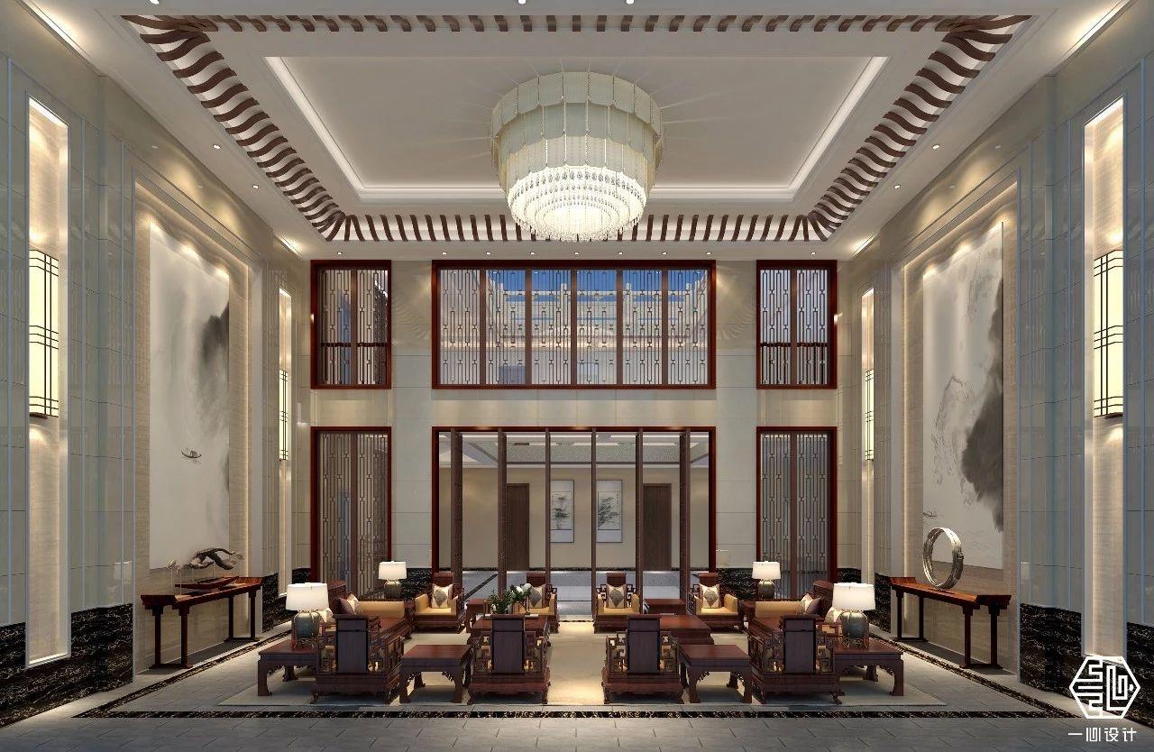 客厅篇-500平米大户型中式风格-谷居家居装修设计效果