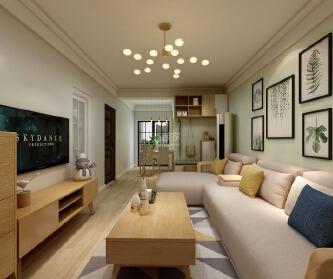 西安76平两居室新房设计...