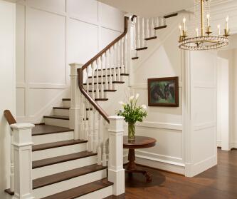 墅木楼梯,别墅楼梯生产商...