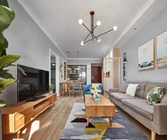 木色北欧三居室,每个空间...