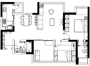 96㎡塞下三房两厅,还有3㎡的儿童玩乐区,这个小户型太惊艳!