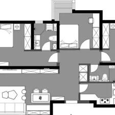 威海鸿图装饰 103㎡简约风格装修,以少胜多,打造简洁、温馨、明快的家居空间