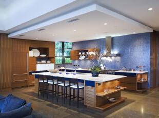 ,当代风格,厨房,
