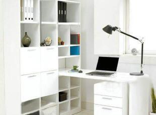 长书架长1425X宽240X高455mm  电脑桌长1480X宽589X高718mm  抽屉柜长400X宽450X高630mm,现代主义,电脑桌,