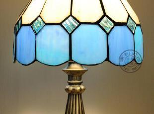纯手工彩玻制作配锌合金底座,地中海风情,灯具,