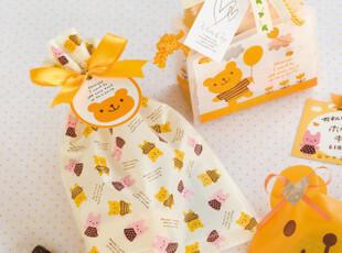 日韩缤纷熊兔包装袋饼干袋礼品袋西点袋DIY烘焙食品袋(4枚价,DIY,