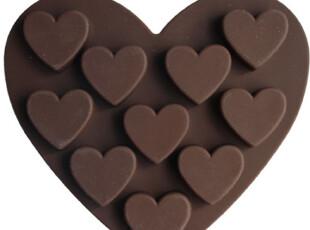 妮可硅胶模具B25 心型DIY蛋糕巧克力果冻布丁模具 手工皂模具皂模,DIY,