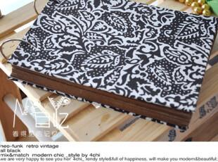 目忆/原创手工 创意布面DIY相册[雅致] 咖色花纹送102枚角贴2张,DIY,
