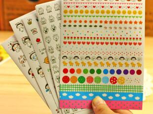 韩国文具 可爱日记 DIY every happy day快乐一天 贴纸 6张入,DIY,